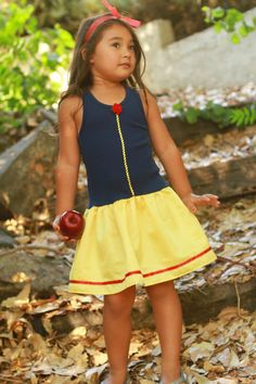 Snow White inspired  play dress by DressesbySissy on Etsy, $25.00