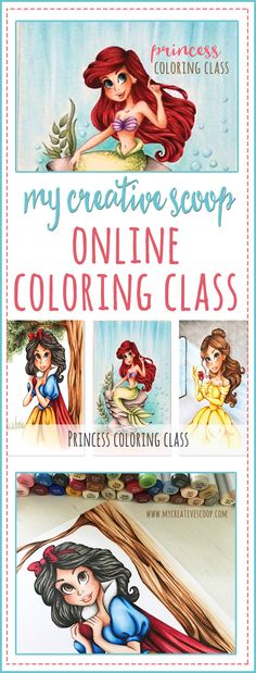 Online Princess Coloring Class. Learn how to use your Copic Markers.