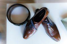 Groom's preparations. Shoes , leather belt all italian style. Vintage wedding in Athens by weddingskyros.com Skyros Island