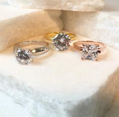 Rose Gold Engagement Ring #BlingJewelry