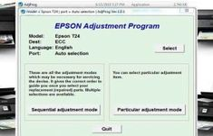 Epson Stylus Adjustment Program is Working For Service Required Error, and Waste pad Counter, Life End, All Lights Blinking, Head Adjustment Ect. Find Password, Something Like You, Epson Ink, End Of Life, Inkjet Printer, Ink Pads, Stylus, Step By Step Instructions, Programming