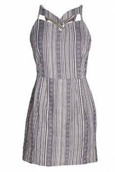 STRIPE CUTOUT DRESS/ MOJAVE $130