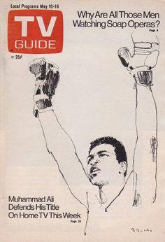 Muhammad Ali Illustration by Bernie Fuchs, TV Guide May, 1975.