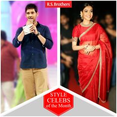 """#StyleCelebsOfTheMonth Hey Folks, this week Tollywood celebrities #MaheshBabu and  #KajalAggarwal are dazzled in Trendy Fashions Look for """"Brahmotsavam"""" Movie Audio Launch."""