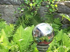 How to Make Mirrored Gazing Balls for the Garden--A really cool way to make mirrored balls, using recycled materials and an inexpensive product from the craft store, and they don't break! Here it is, how to make mirrored gazing balls for the garden, on a budget.