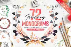 """Képtalálat a következőre: """"72 watercolour wedding monograms"""""""
