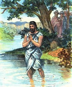 Initially, Naaman pictured above got angry with the prophet Elisha who told him that he would be healed of leprosy if he washed in the Jordan river seven times.