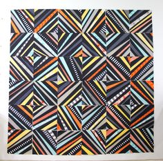 Improv String Blocks by Christa Quilts - very funky