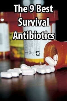 Don't be caught with a life-threatening infection when it's too late. Survival antibiotics don't cost much and they could save your life.