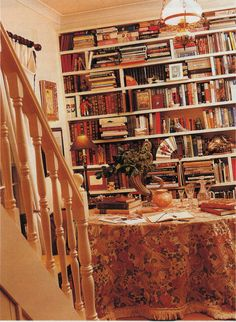 My Interiors - Design Convenient and Pleasant to the Eye | The ... Decor Interior Design, Interior Decorating, English Cottage Interiors, Book Shops, Custom Shelving, English Village, Dream Library, Cottage Decorating, Cottage House