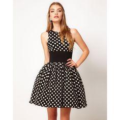 Manoush Polka Dot Prom Dress ($360) ❤ liked on Polyvore