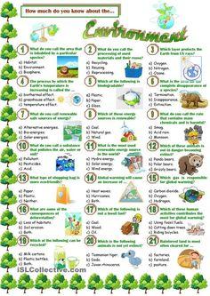Environment-Quiz | FREE ESL worksheets