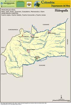 Resultado de imagen para hidrografias de lagunas del departamento del meta