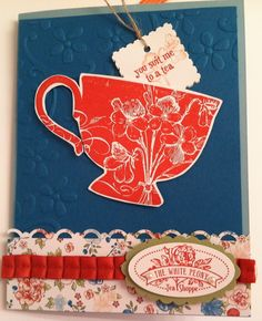 Stampin'Up! Tea Shoppe Card with Occasions Mini products
