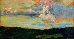 bofransson:    HELMER OSSLUND 1866-1938 The Cloud