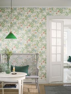 In need of little Spring inspiration? The Spring Garden wallpaper from Borastapeter is filled with a multitude of rich flora, from delicately closed tulips to lovely lily of the valley 🌷 🌷 🌷 Image credit: Garden Wallpaper, Vintage Flowers Wallpaper, Plant Wallpaper, Botanical Wallpaper, Flower Wallpaper, Wall Wallpaper, Beautiful Wallpaper, Leaves Wallpaper, Kitchen Wallpaper