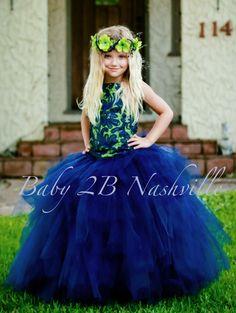 Navy and Apple Wedding Flower Girl Dress   Wedding Flower Girl Tutu Dress   All Sizes Girls by Baby2BNashville on Etsy https://www.etsy.com/listing/236489929/navy-and-apple-wedding-flower-girl-dress