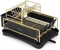 Ten of The Very Best Dish-Drying Racks You Can Buy Right Now Compact Kitchen, Kitchen Small, Bamboo Dishes, Soft Legs, Cutlery Holder, Dish Drainers, Large Tray, Dish Racks, Drip Tray