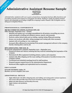Home Design Idea Download The Free Administrative Assistant Resume Example  Above Resumes Sample Format ...