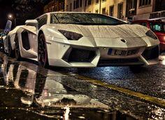 Lamborghini in Rain