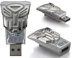 Transformer USB Drive Stores Data and Pops Open Beer Bottles #Transformers trendhunter.com