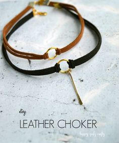 DIY : Easiest leather choker ever! - happy girly crafty