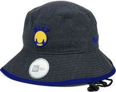 New Era Golden State Warriors Dark Heather Tipped Bucket Hat d3bacf2c5bce
