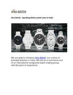 Hira Watch - Sparkling Online watch store in India Watch Blog, Online Watch Store, Watch Sale, Watches Online, Cool Watches, Sparkle, India, Goa India, Indie