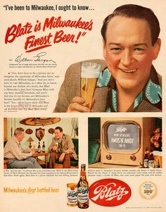 50 Inspiring Examples of Vintage Ads Old Advertisements, Retro Advertising, Retro Ads, Vintage Ads, Vintage Posters, Vintage Food, Vintage Paper, Beer Magazine, Milwaukee Beer