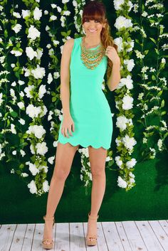 RESTOCK: Pretty In Petals Dress: Mint
