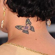 Vanessa Hudgen's butterfly tattoo