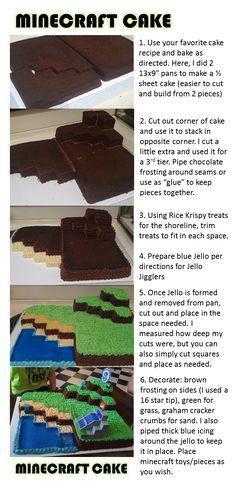 Minecraft Cake! Super easy!