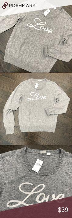 NWT Gap Gray Love Merino Wool Sweater NWT. Gap Love Sweater. Nylon/Merino Wool/Acrylic blend. Size Medium. GAP Sweaters Crew & Scoop Necks