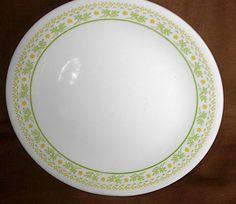 "Lot 4 Corelle 10.5"" Dinner Plates Sunshine Pattern (1981-1983) #17036 #CorningCorelle"