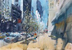 весна в мегаполисе #watercolor #акварель #paintgooru #petrulenkov #newyork #landscape Land Scape, Watercolour, Painting, Art, Pen And Wash, Art Background, Watercolor Painting, Watercolor, Painting Art