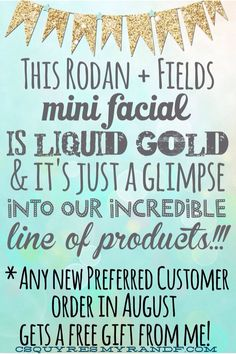Rodan + Field's Microdermabrasion Paste, Night Renewing Serum, and Lip Renewing Serum...all available in a free mini facial. Just contact me!  www.janettepeacock.myrandf.com