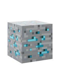Lampe Bleu Cube Diamant Minecraft Edition Limité Think Geek: Amazon.fr:  Luminaires Et
