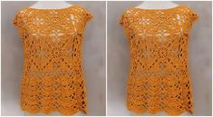 Learn To Crochet Beautiful Gold Blouse