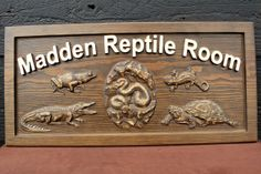 Custom Carved Sign Reptile Room Sign Carved by SmokyMountainSigns, $120.00