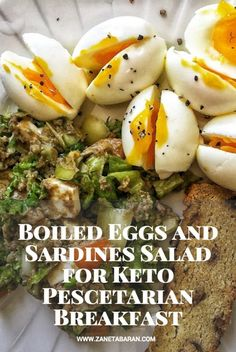 Print Boiled Eggs and Sardines Salad for Keto Pescetarian Breakfast Print Boiled Eggs and Sardines Salad for Keto Pescetarian Breakfast pescatarian dinner Salad Recipes, Keto Recipes, Cooking Recipes, Healthy Recipes, Fish Recipes, Sardine Recipes Canned, Sardine Salad, Clean Eating, Healthy Eating