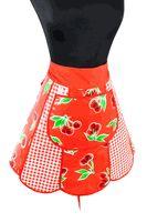 Red Cherry Oilcloth Half Retro Apron  www.oilclothalley.com