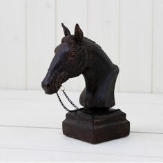 Black Horse Head With Reigns - I need a black horse head for Halloween!!