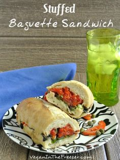 A Stuffed Baguette Sandwich #vegan