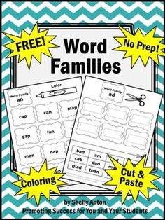Dr. Seuss FREE Word Families Morning Word Work Phonics Com