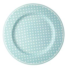 GreenGate Spot Dinner Plate Pale Blue