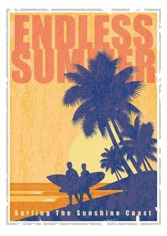 Retro Surf, Vintage Surf, Vintage Prints, Art Deco Posters, Poster Prints, Surf Posters, Retro Posters, Image Deco, Summer Poster