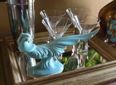 #Vintage #Turquoise ceramic peacock from #Goodwill.  $7.99