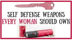 Every woman should carry a concealed self defense weapon on her. It could save your life! See my top recommendations here: http://topselfdefensetips.com/top-5-best-self-defense-weapons-for-women