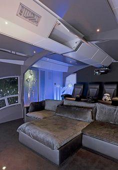 Star Wars movie room