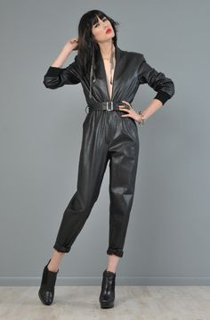 e8cb72c739a Genuine Lambskin Leather Customized Women overall Jumpsuit